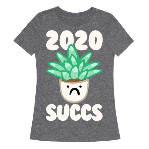 2020 Succs White Print Womens T-Shirt