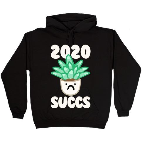 2020 Succs White Print Hooded Sweatshirt