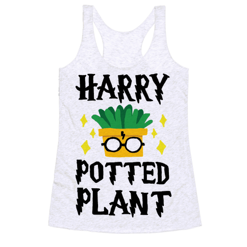 Harry Potted Plant Racerback Tank Top