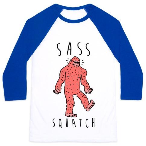 Sass Squatch Baseball Tee