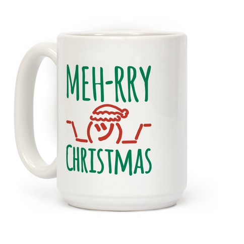 Meh-rry Christmas Parody Coffee Mug