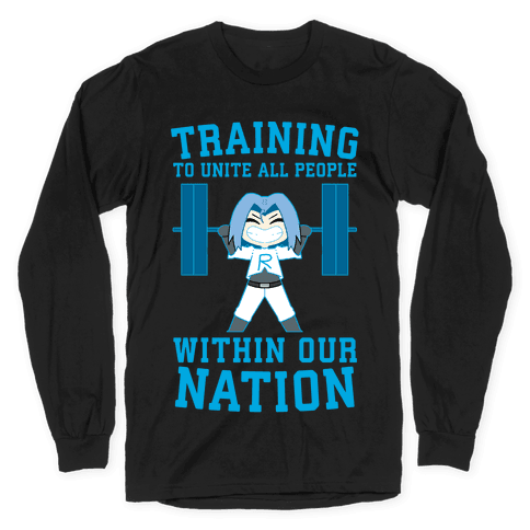 Training To Unite All People Within Our Nation Long Sleeve T-Shirt