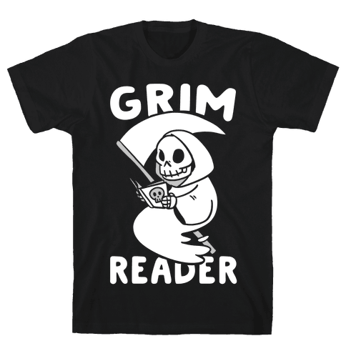 Grim Reader Mens T-Shirt