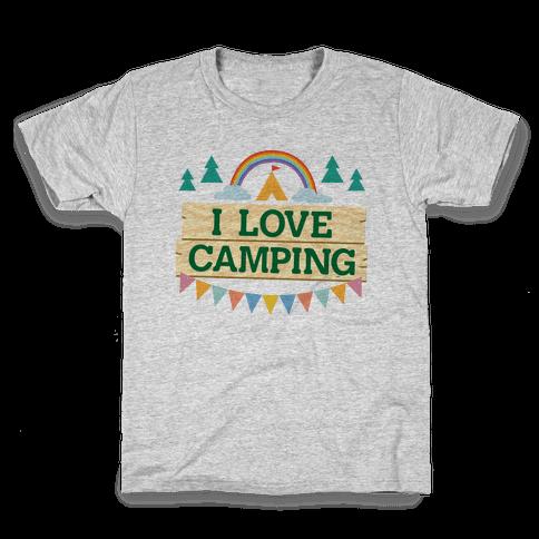 I Love Camping (Pocket Camp Parody) Kids T-Shirt