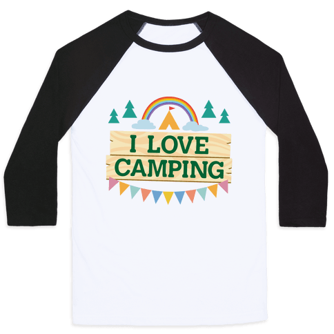 I Love Camping (Pocket Camp Parody) Baseball Tee