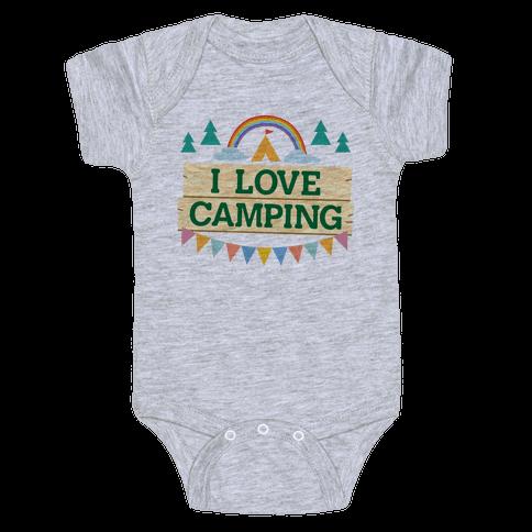 I Love Camping (Pocket Camp Parody) Baby Onesy