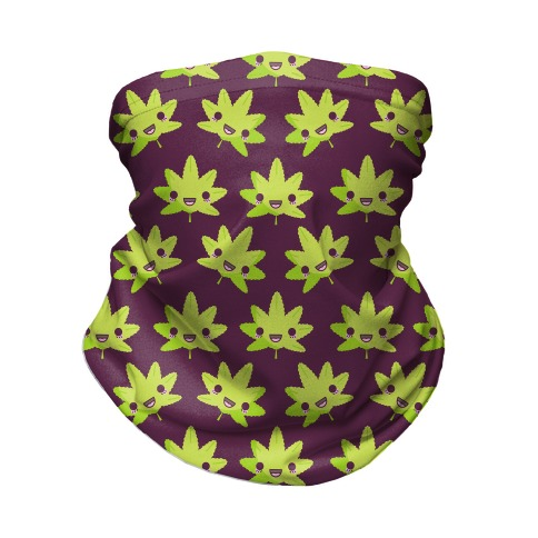 Kawaii Pot Leaf Neck Gaiter