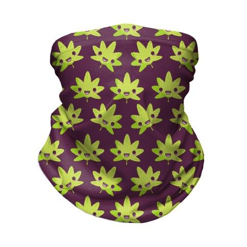 Kawaii Pot Leaf Neck Gaiter