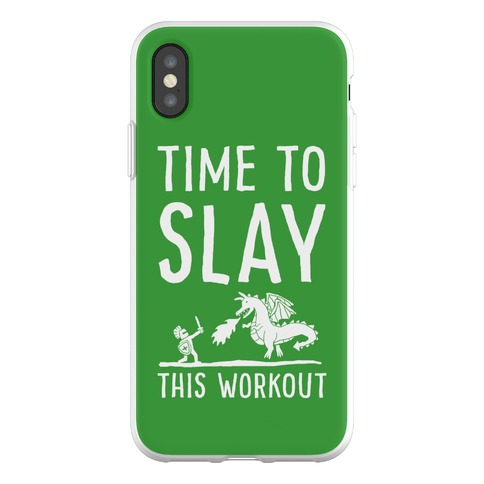 Time To Slay This Workout Phone Flexi-Case