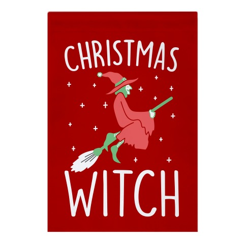 Christmas Witch Garden Flag