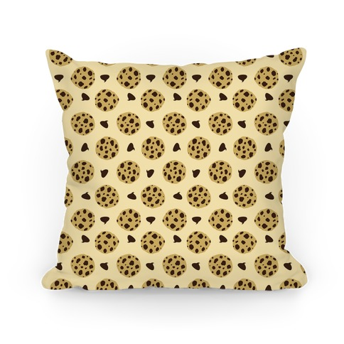 Chocolate Chip Cookies Pattern Pillow