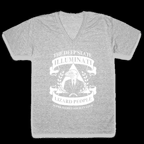 Super Secret Society Club V-Neck Tee Shirt