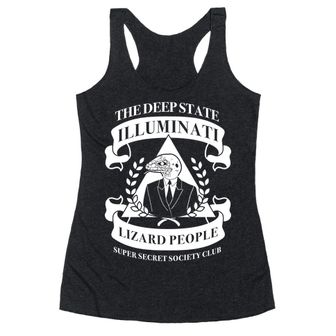 Super Secret Society Club Racerback Tank Top