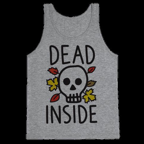 Dead Inside Autumn Skull Tank Top