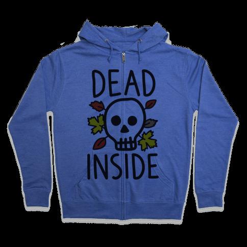 Dead Inside Autumn Skull Zip Hoodie