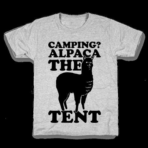 Camping? Alpaca The Tent Kids T-Shirt
