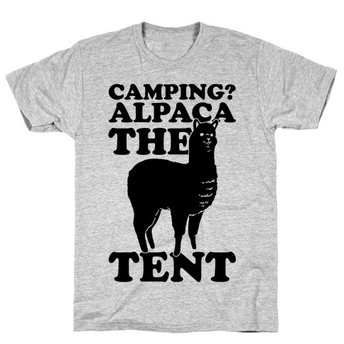 Camping? Alpaca The Tent Mens T-Shirt