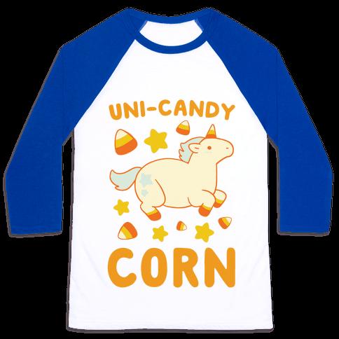 Uni-Candy Corn Baseball Tee