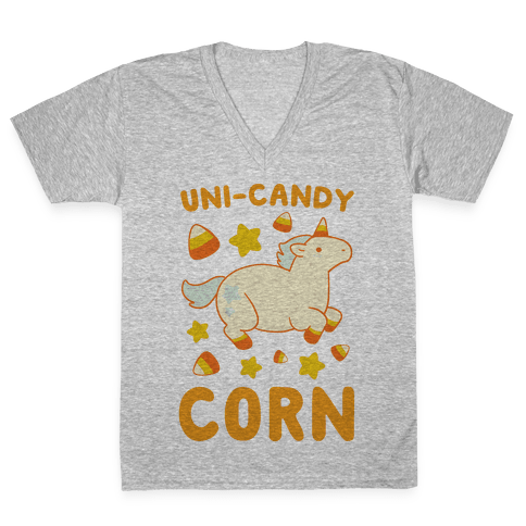 Uni-Candy Corn V-Neck Tee Shirt