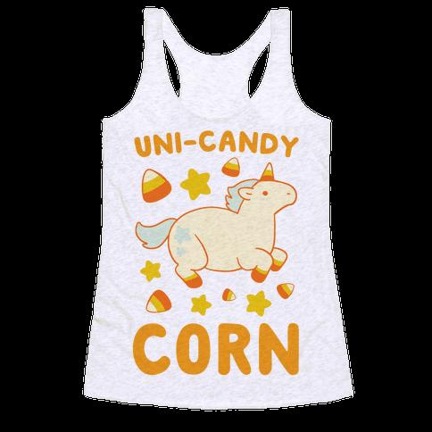 Uni-Candy Corn Racerback Tank Top