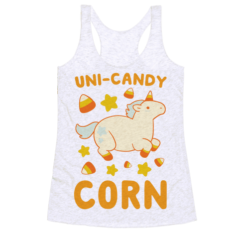 Uni-Candy Corn Racerback Tank Top
