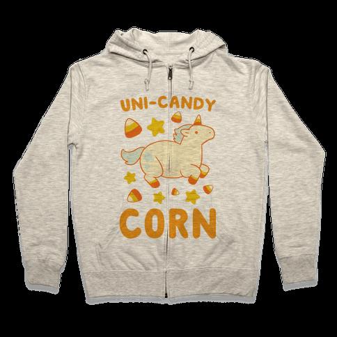 Uni-Candy Corn Zip Hoodie