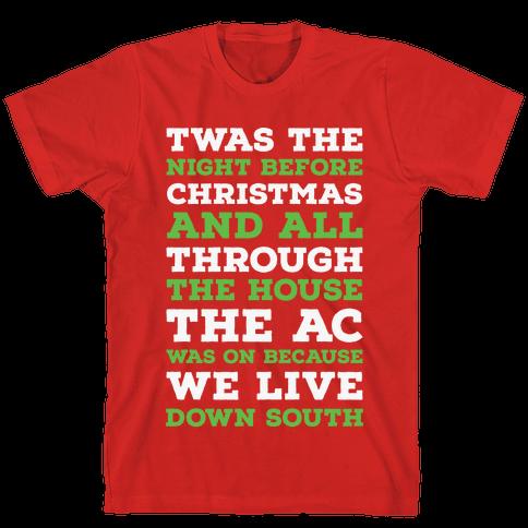 Twas The Night Before Christmas  Mens T-Shirt