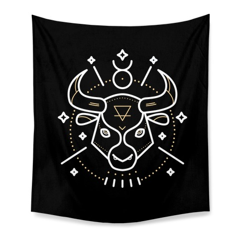 Astrology Taurus Bull Tapestry