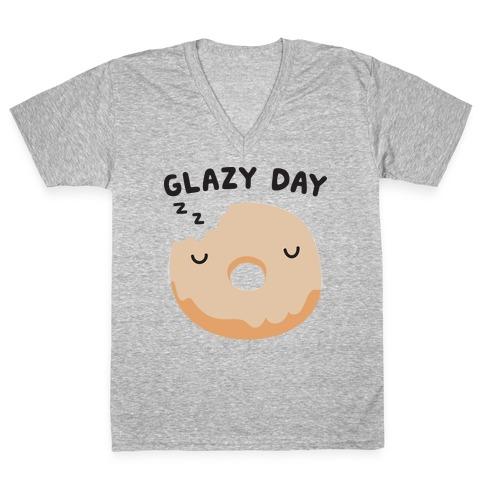 Glazy Day Donut V-Neck Tee Shirt