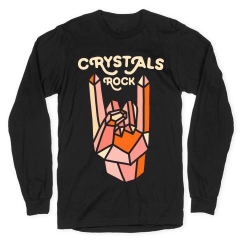Crystals Rock Long Sleeve T-Shirt