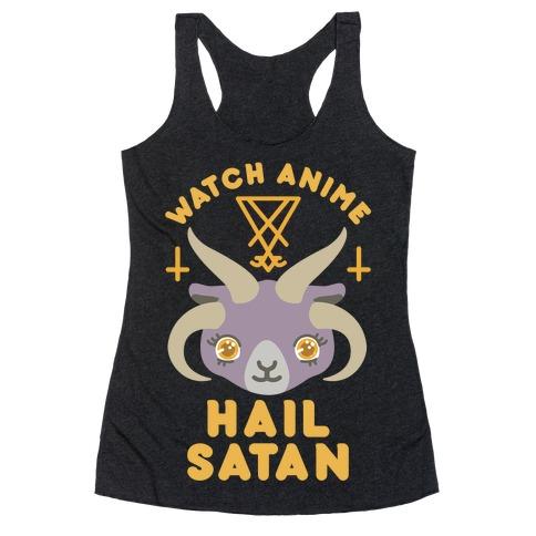 Watch Anime Hail Satan Racerback Tank Top