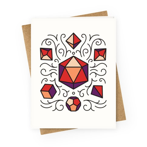 DnD Dice Set Pattern Greeting Card