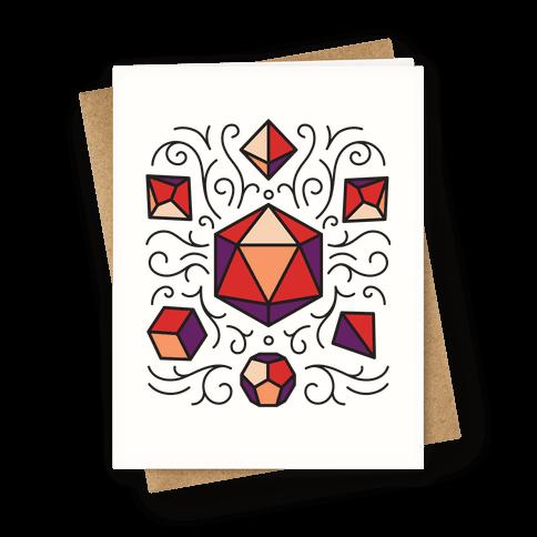 DnD Dice Set Pattern Greeting Card