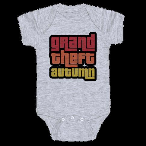 Grand Theft Autumn Baby Onesy