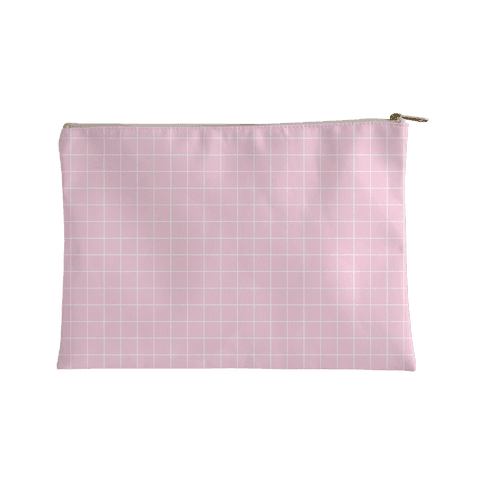 Pink Grid Accessory Bag