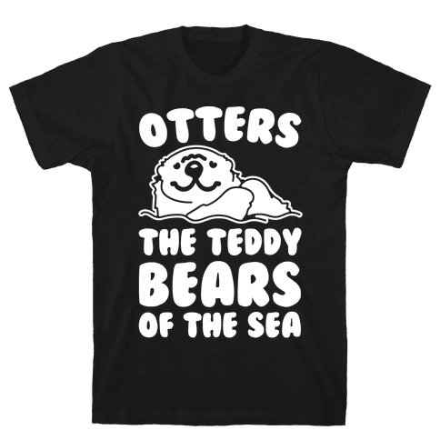 Otters The Teddy Bears of The Sea White Print Mens T-Shirt