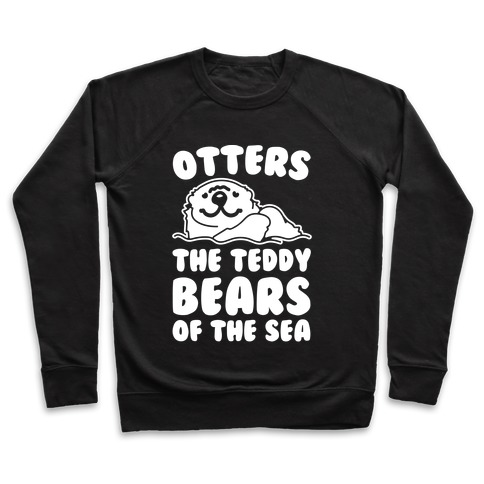 Otters The Teddy Bears of The Sea White Print Pullover