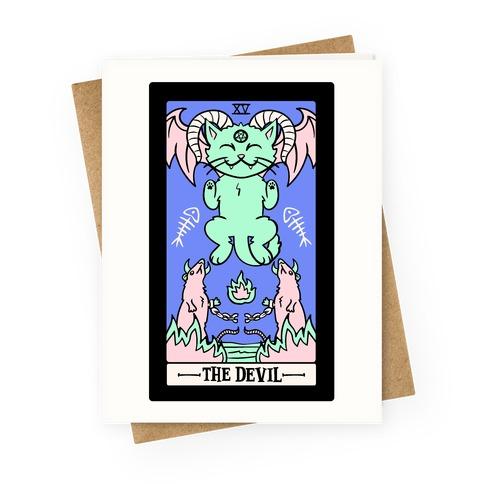 Creepy Cute Tarot: The Devil Greeting Card