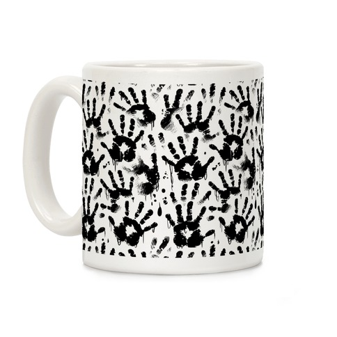 BT Handprints Pattern Coffee Mug