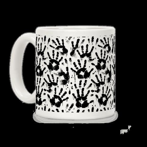 BT Handprints Pattern Coffee Mug