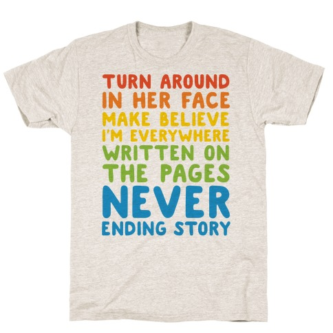 The Never Ending Story Lyric Pairs Shirts T-Shirt
