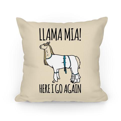 Llama Mia Parody Pillow