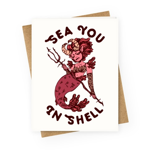 Sea You In Shell Greeting Card
