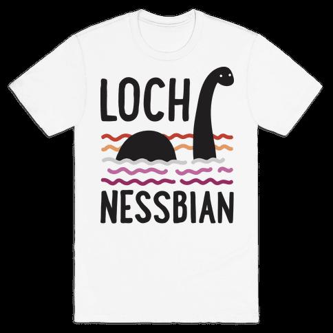 Loch Nessbian Lesbian Mens/Unisex T-Shirt