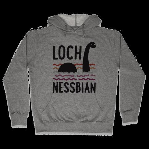 Loch Nessbian Lesbian Hooded Sweatshirt