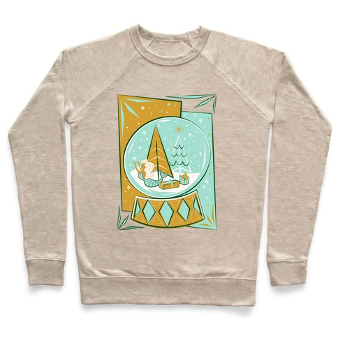Mid-Century Modern Mermaid Holiday Snow Globe Pullover