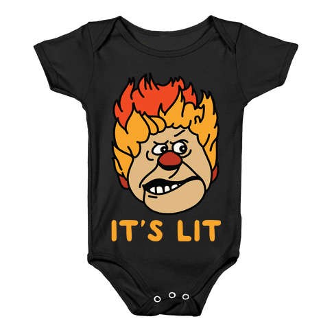 It's Lit Heat Miser Baby Onesy