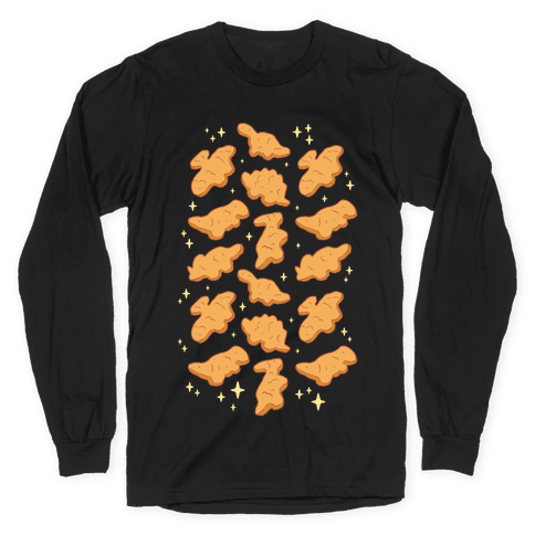 Dino Nuggies Pattern Long Sleeve T-Shirt