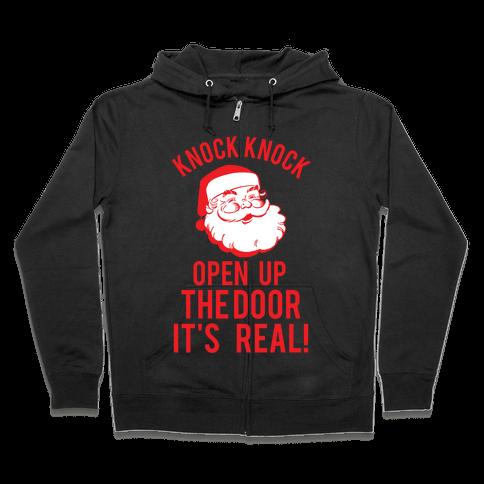 Knock Knock Santa Zip Hoodie
