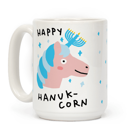 Happy Hanuk-Corn Unicorn Coffee Mug
